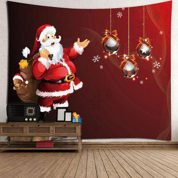 Santa Claus Gift Pattern Wall Decor Tapestry - RED W79 INCH * L59 INCH