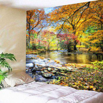 Brook Grove Pattern Waterproof Wall Art Tapestry - COLORFUL W79 INCH * L59 INCH