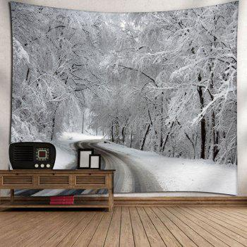Snowscape Print Wall Hanging Tapestry - WHITE W59 INCH * L51 INCH