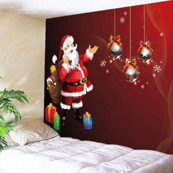 Santa Claus Gift Pattern Wall Decor Tapestry - RED W79 INCH * L71 INCH