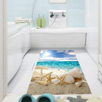 Removable Shell Starfish Beach Waterproof Wall Art Painting - CHARM 1PC:39*39 INCH( NO FRAME )