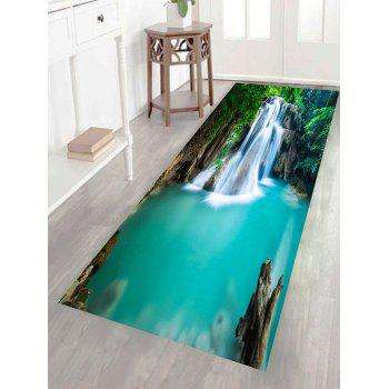 Multifunction Removable Mountain Waterfall Patterned Wall Art Painting - GREEN 1PC:24*71 INCH( NO FRAME )