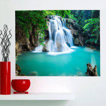 Multifunction Removable Mountain Waterfall Patterned Wall Art Painting - GREEN 1PC:59*39 INCH( NO FRAME )