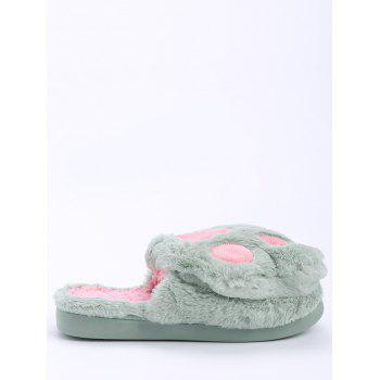 Color Block Furry Slippers - SIZE(38-39) SIZE(38-39)