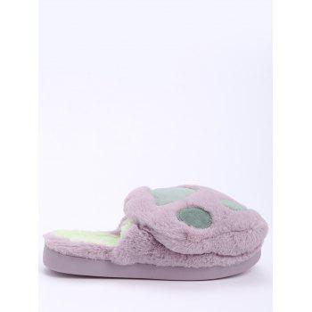Color Block Furry Slippers - PURPLE SIZE(38-39)
