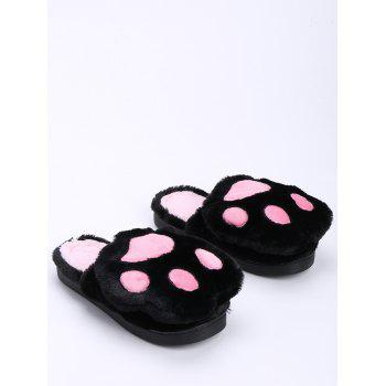 Color Block Furry Slippers - SIZE(36-37) SIZE(36-37)