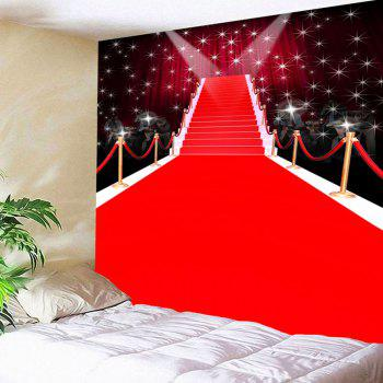 Waterproof Red Carpet Stage Pattern Wall Hanging Tapestry - RED W71 INCH * L71 INCH