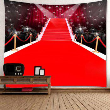 Waterproof Red Carpet Stage Pattern Wall Hanging Tapestry - RED W79 INCH * L71 INCH