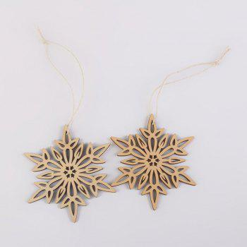 10 Pcs Christmas Tree Decorations Wooden Snowflake - WOOD