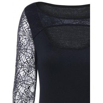 Halloween Spider Web Keyhole Top - M M