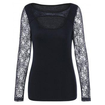 Top de trou de serrure Halloween Spider Web - Noir XL