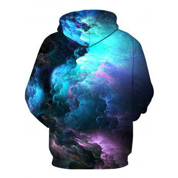 Colorful 3D Clouds Print Pullover Hoodie - COLORMIX XL