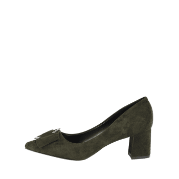 Buckle Strap Metal Pointed Toe Pumps - BLACKISH GREEN BLACKISH GREEN