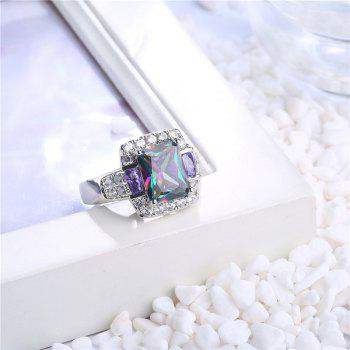Sparkly Faux Gem Crystal Finger Ring - SILVER SILVER