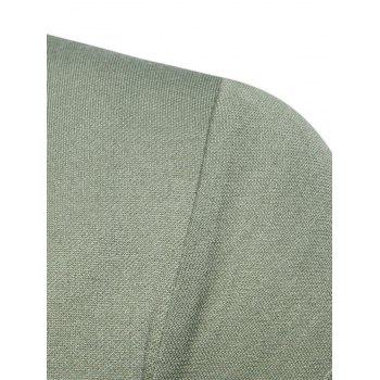 Long Sleeve Edging Polo T-shirt - ARMY GREEN ARMY GREEN