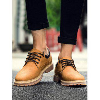 Low Top Lace Up Stitching Casual Shoes - YELLOW 43