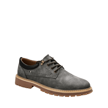 Low Top Lace Up Stitching Casual Shoes - GRAY 43