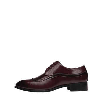 Pointed Toe Embossing Formal Shoes - BROWN 44