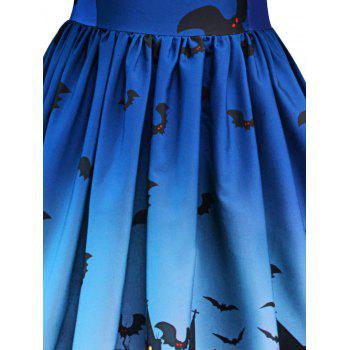 Robe Halloween à Empiècement en Dentelle Vintage - Bleu Royal S