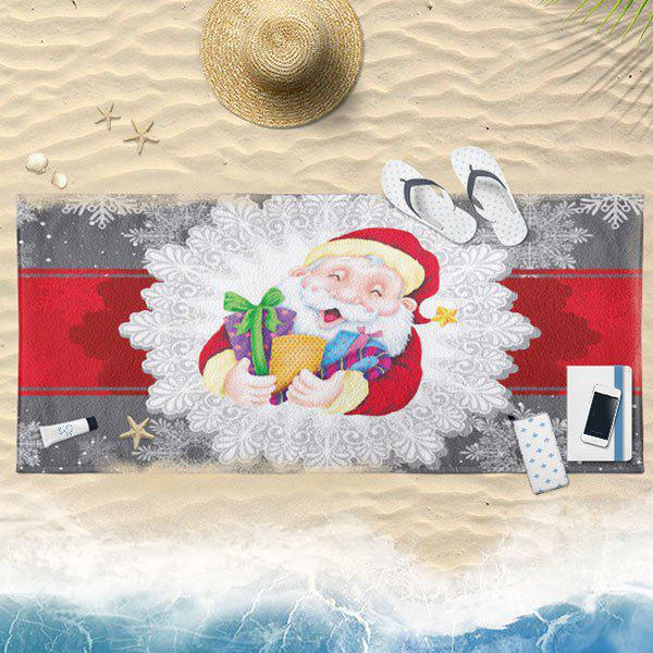 Christmas Printed Santa Claus Bath Towel - COLORMIX 75CM*150CM