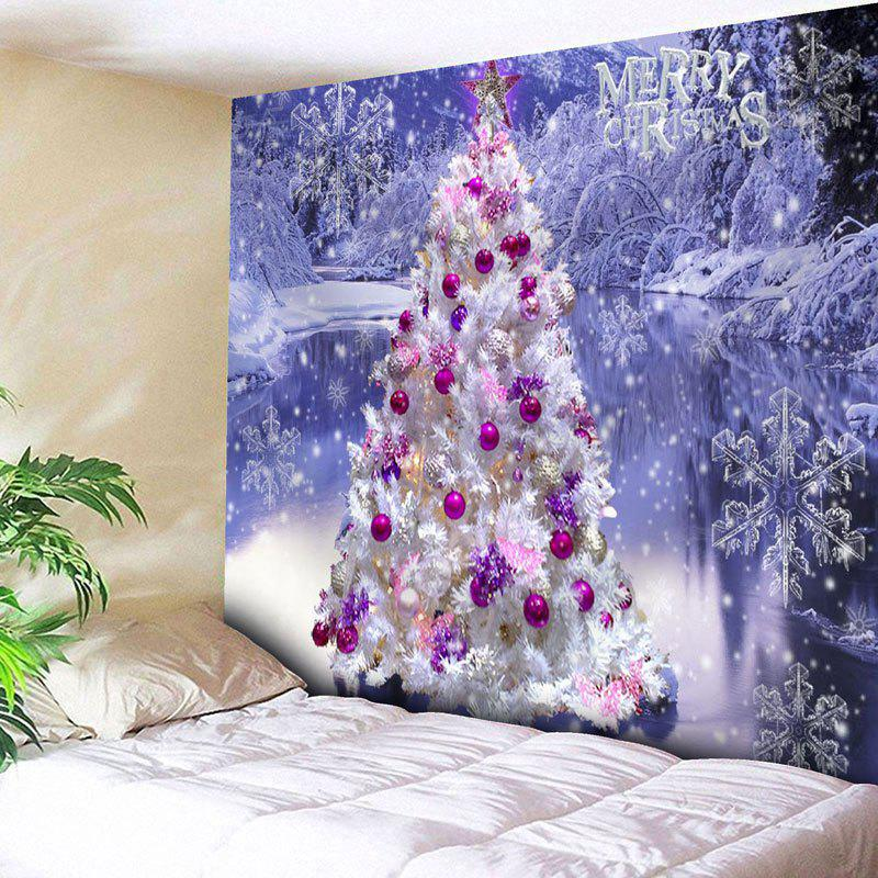 Christmas Tree Snowflake Wall Decor Tapestry - LARKSPUR W91 INCH * L71 INCH