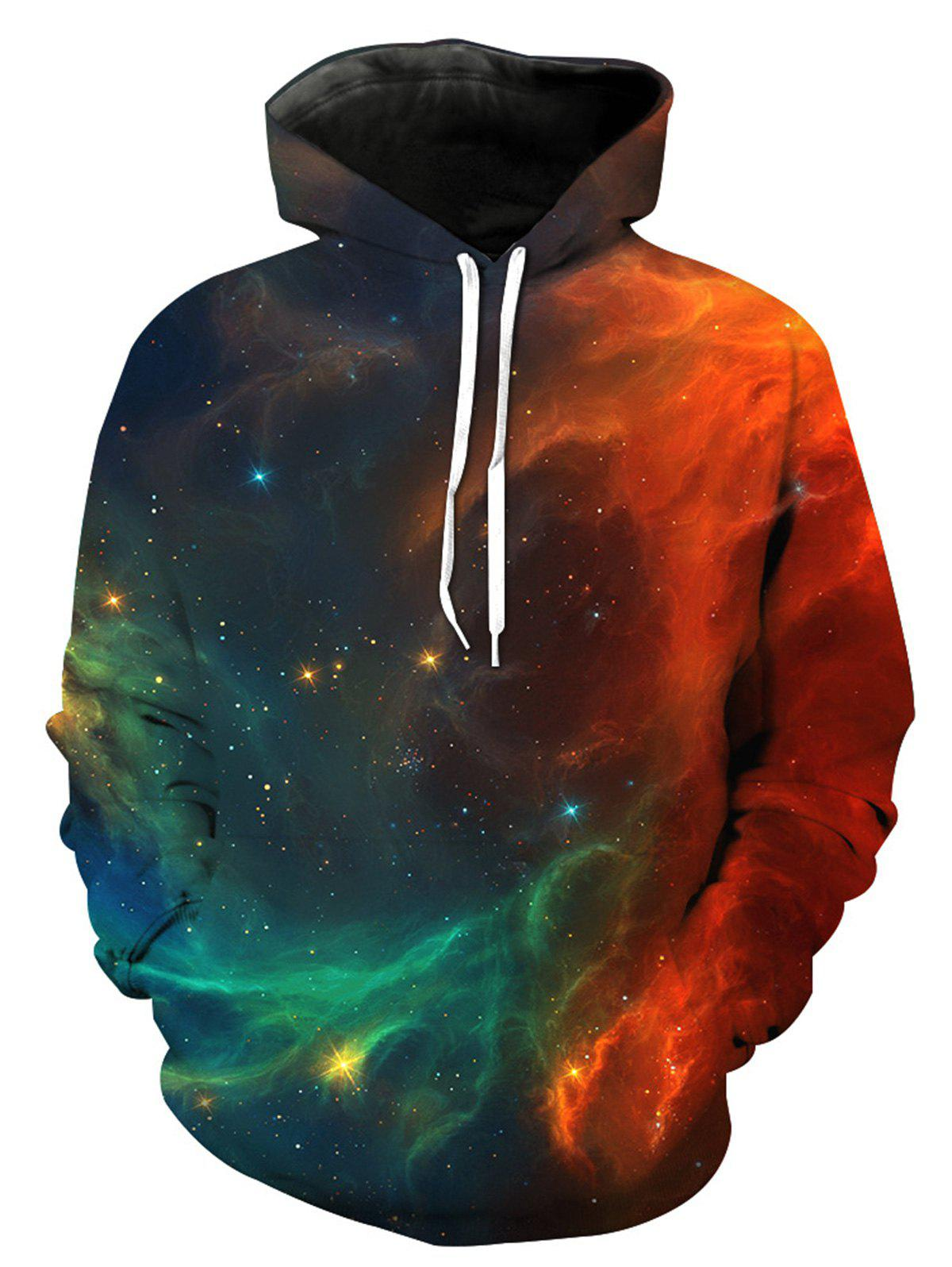 3D Galaxy Ombre Print Pullover Hoodie 150 page apple shaped memo pad