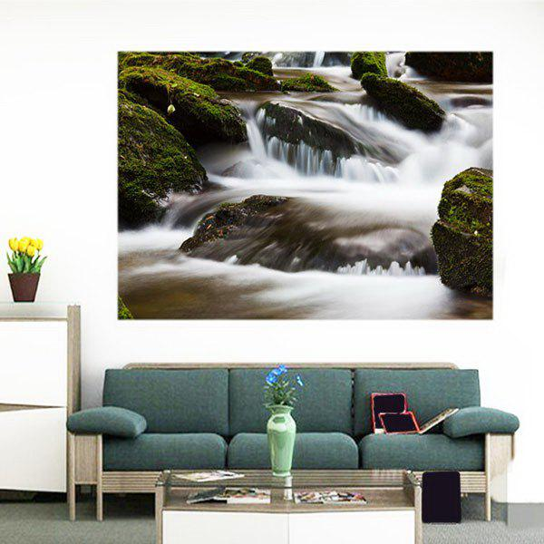Torrent Creek Pattern Removable Multifunction Wall Art Painting - GREEN 1PC:59*39 INCH( NO FRAME )