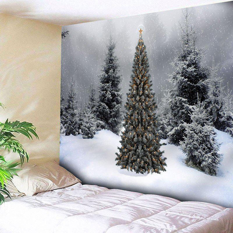 Wall Art Christmas Snow Tree Tapestry - GRAY W79 INCH * L59 INCH