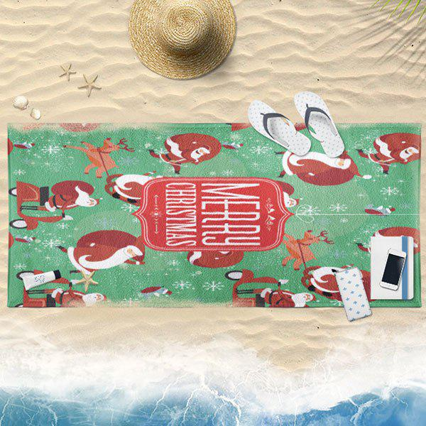 Serviette de bain Cartoon Christmas Santa Claus - Menthe 75CM*150CM