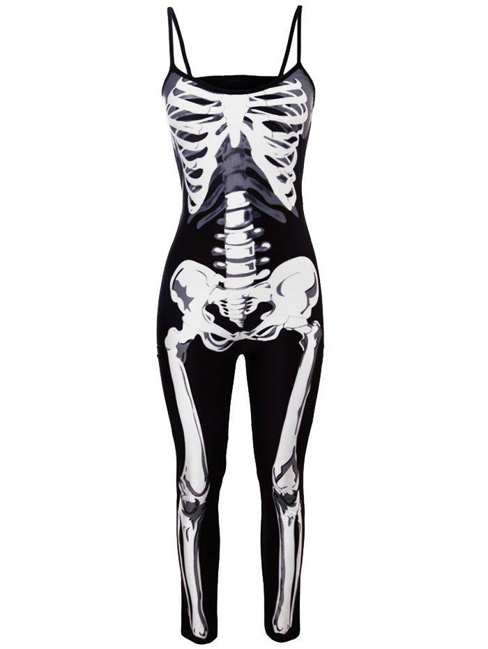 Costume de Halloween Skeleton Jumpsuit - Noir L