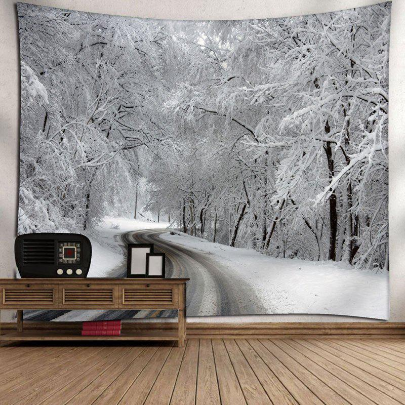 Snowscape Print Wall Hanging Tapestry - WHITE W59 INCH * L59 INCH
