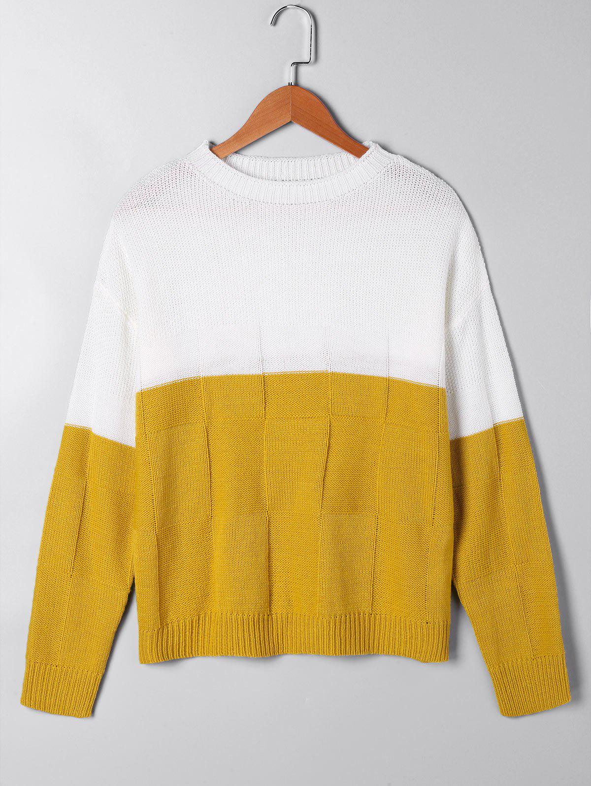 цена Two Tone Open Knit Sweater