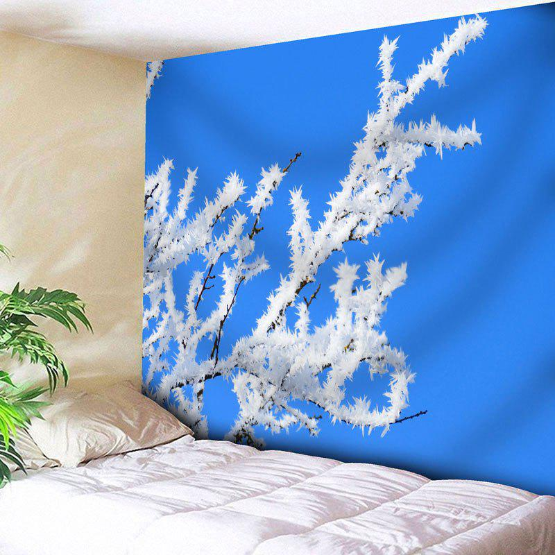 Snow Tree Branch Pattern Wall Tapestry - BLUE W71 INCH * L71 INCH