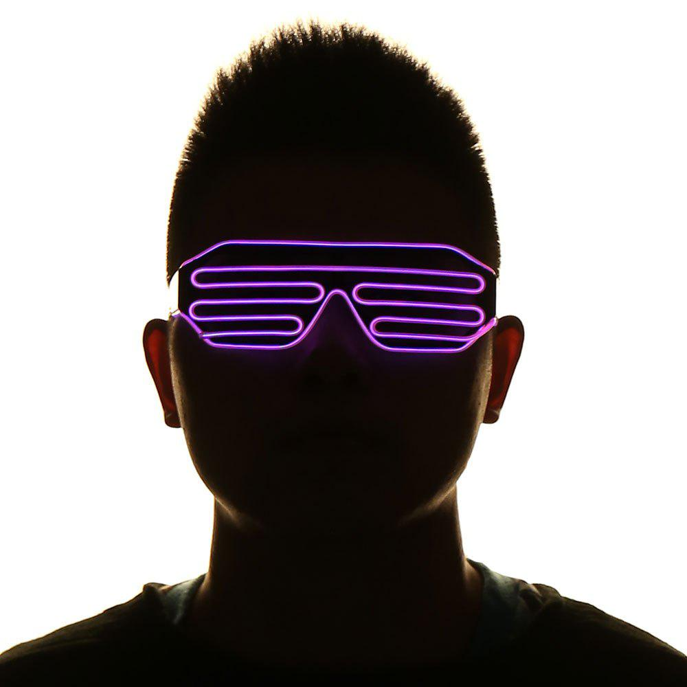 LED Glowing Shutter Party Mask Glasses - RED