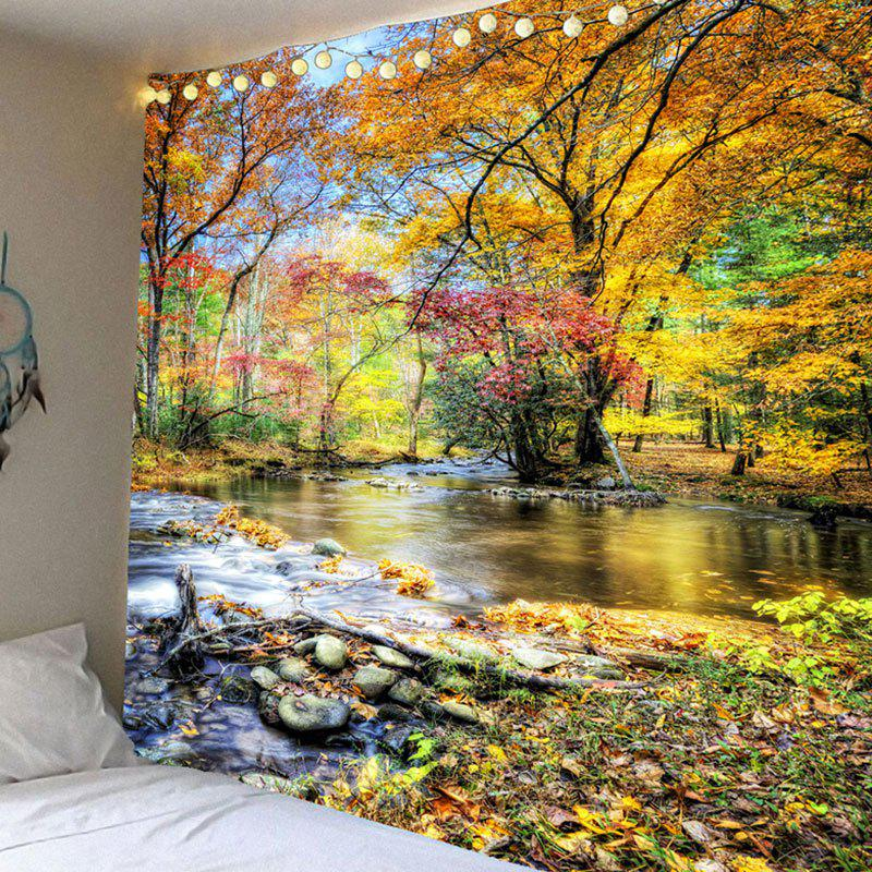 Brook Grove Pattern Waterproof Wall Art Tapestry - COLORFUL W71 INCH * L71 INCH