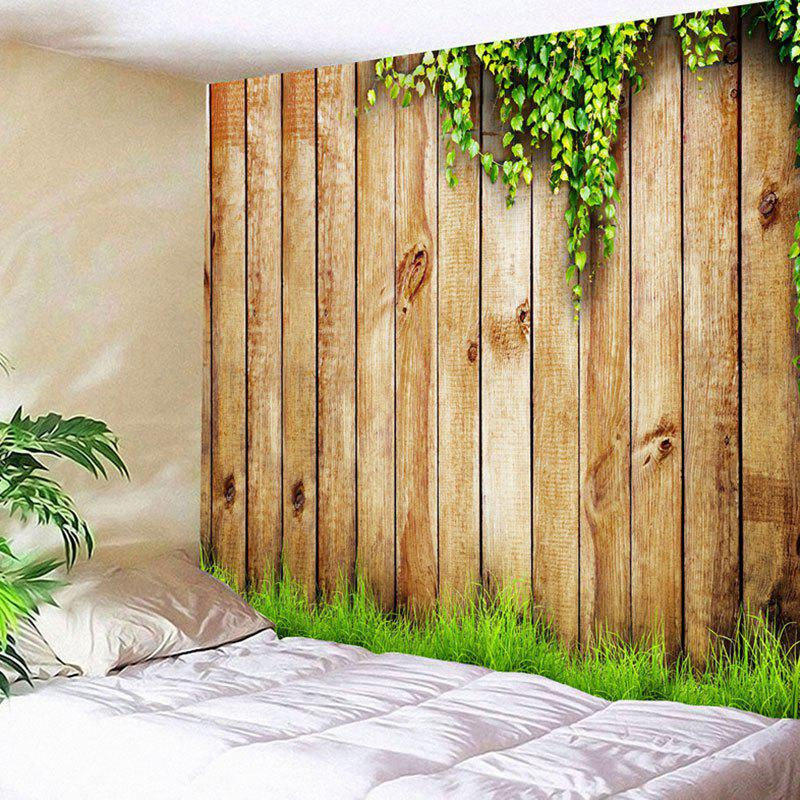 Waterproof Wooden Cirrus Pattern Wall Hanging Tapestry - WOOD W91 INCH * L71 INCH
