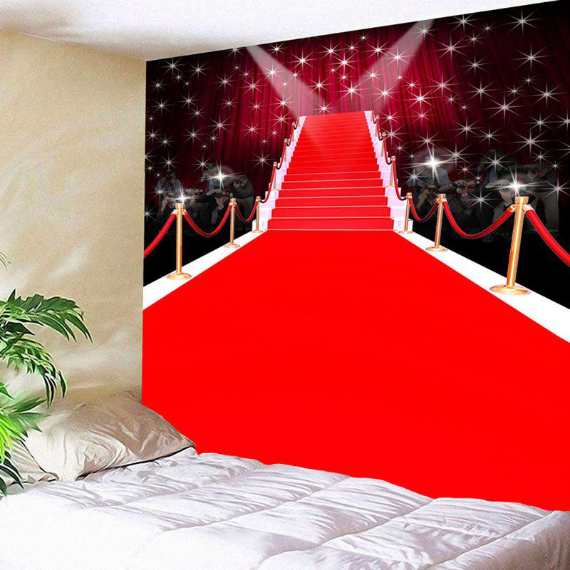Waterproof Red Carpet Stage Pattern Wall Hanging Tapestry - RED W59 INCH * L51 INCH