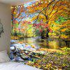 Brook Grove Pattern Waterproof Wall Art Tapestry - COLORFUL W79 INCH * L71 INCH