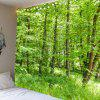 Green Forest Pattern Waterproof Wall Art Tapestry - GREEN W71 INCH * L71 INCH