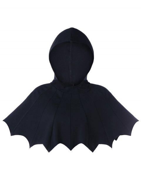Scalloped Hooded Halloween Bat Cape - BLACK M