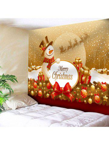 christmas snowman print tapestry - Decorative Christmas Sleigh Sale