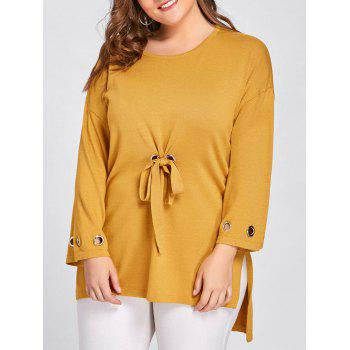 Side Slit High Low Plus Size Sweater - GINGER GINGER
