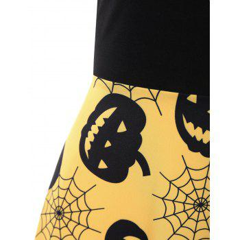 Plus Size Halloween Pumpkin Vintage Sleeveless Dress - 2XL 2XL