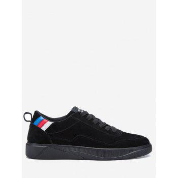 Color Block Round Toe Canvas Chaussures de skate