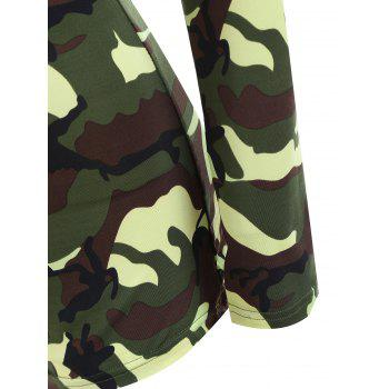 Camouflage Long Sleeve Soldier Cosplay Costume - M M