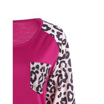 Patch Pocket Leopard Sweatshirt - M M