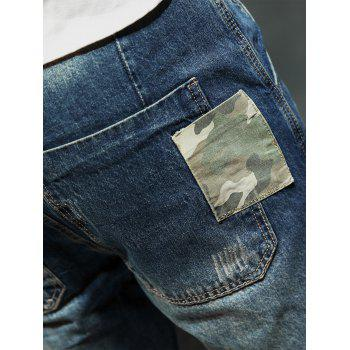 Camouflage Panel Pocket Loose Fit Harem Jeans - 34 34