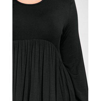 Plus Size High Low T Shirt Dress - BLACK 5XL
