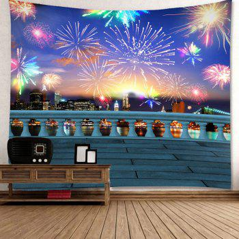 Waterproof Colorful Fireworks Pattern Wall Hanging Tapestry - COLORFUL W59 INCH * L51 INCH