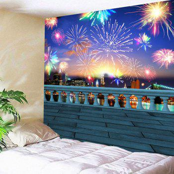 Waterproof Colorful Fireworks Pattern Wall Hanging Tapestry - COLORFUL W59 INCH * L59 INCH
